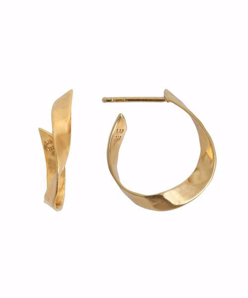 Twisted Hammered Creol Earring Right