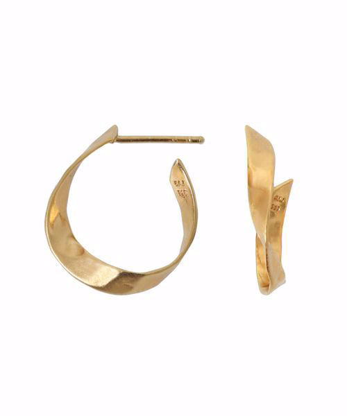 Twisted Hammered Creol Earring Left