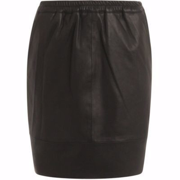 Coster Copenhagen B4514 Leather skirt with elastic waist