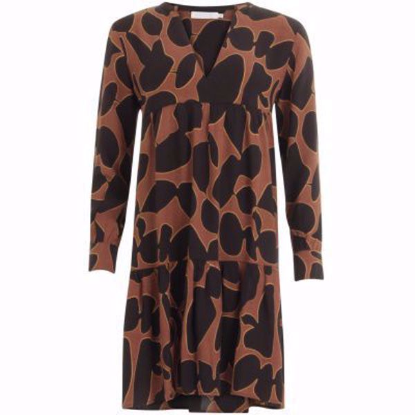 Coster Copenhagen 194-5403 dress in lava print with volume effect at body