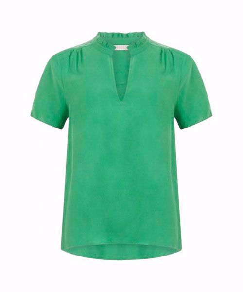 Coster Copenhagen Blouse with frill detail at neck