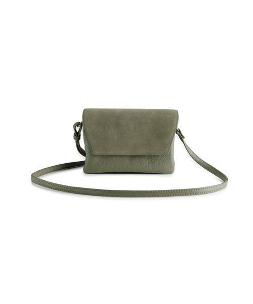 Markberg Rayna suede bag mix crossbody bag oliven