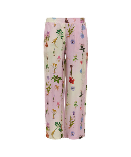 Coster copenhagen pants w. elastic back in flower garden print