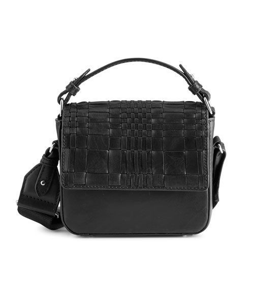 MARKBERG ADORA SMALL CROSSBODY BAG WOVEN BLACK