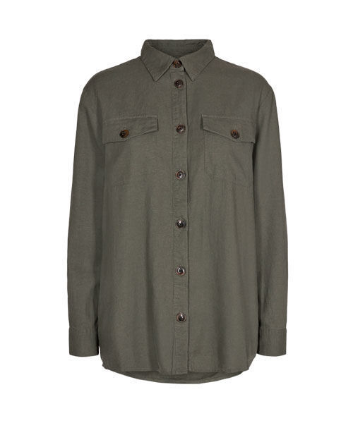 Freequent Lava shirt dusty olive